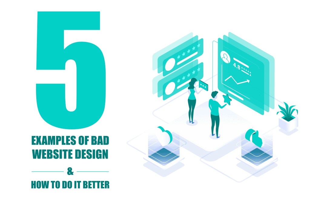 Bad website design affects user experience. Avoid common mistakes by learning the differences between good and bad web design Brought to you by WANDR. Best Product Strategy & Ranked #1 UX Design Firm