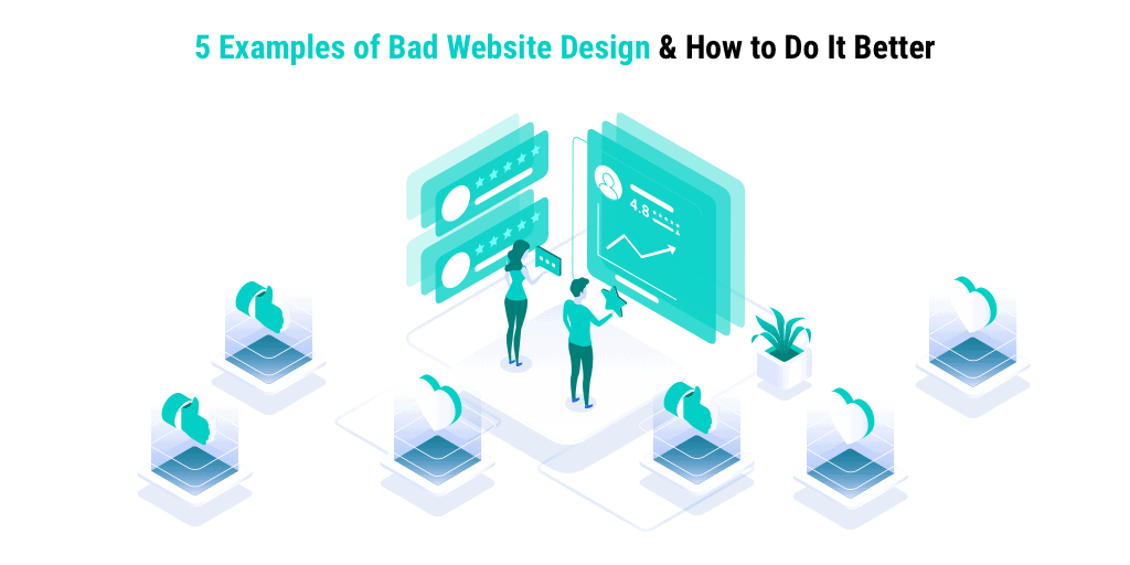 Avoid common mistakes by seeing bad website design. Avoid common mistakes and know the differences between good and bad web design. Only from wandr.studio, the top voted UX agency