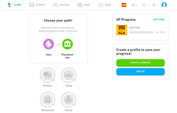 The final entry in this list of the best UX websites is Duolingo