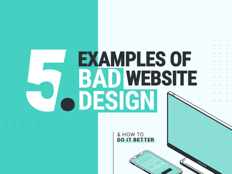 5 Examples Of Bad Website Design And How To Do It Better Wandr Ranked 1 Product Strategy Ux Design Firm