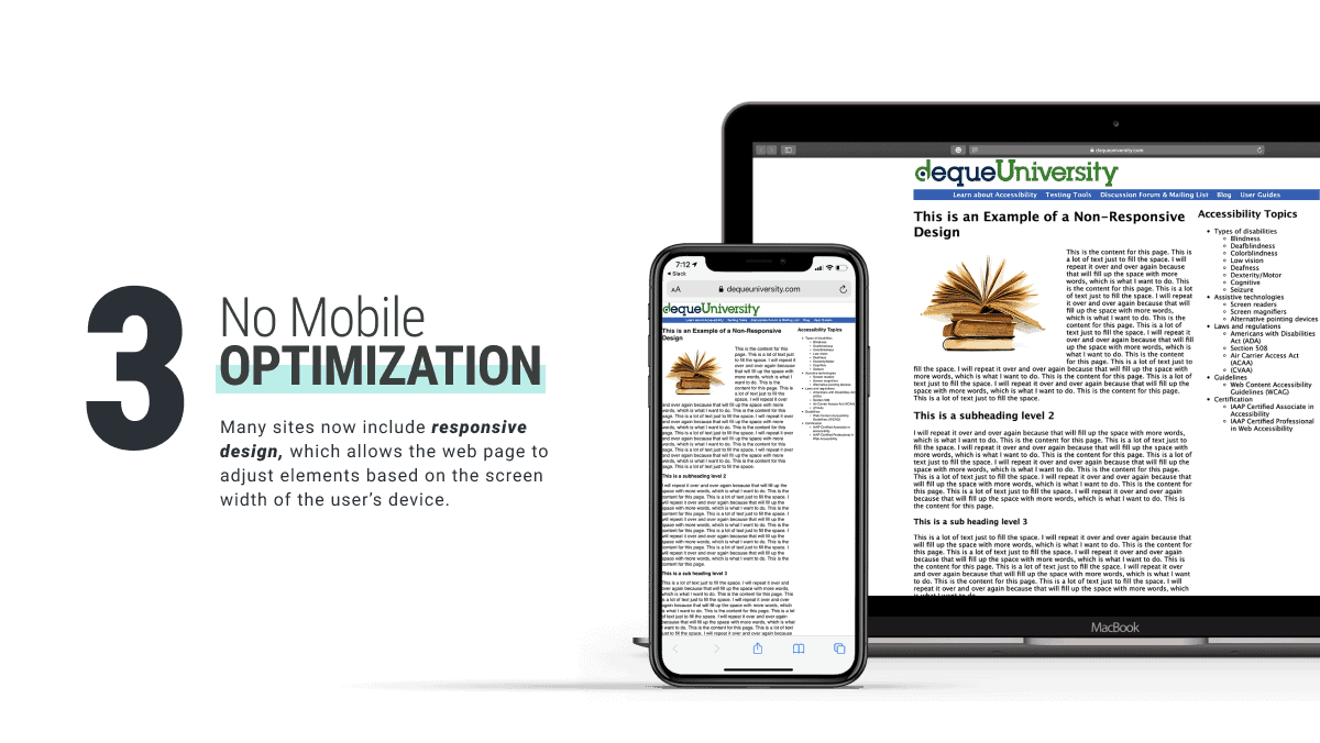 Pages with No Mobile Optimization is a bad website design brought to you by WANDR Studio, UX Design Agency in LA and SF