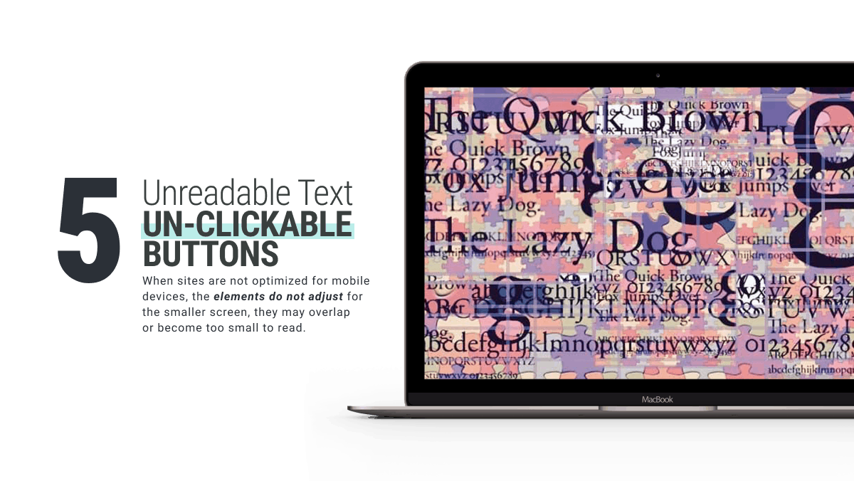 Unreadable Text or Un-clickable Buttons is an example of bad website design shared by WANDR top-rated Product Design and UX Design Agency