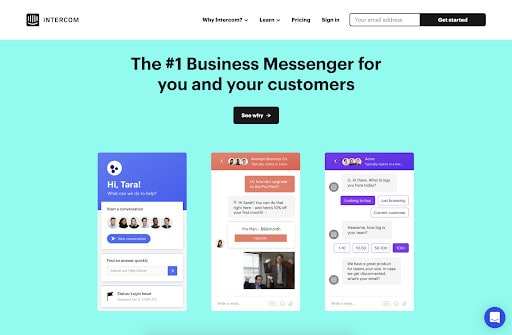 Intercom's best looking website brought to you by WANDR Studio, #1 UX Design Agency