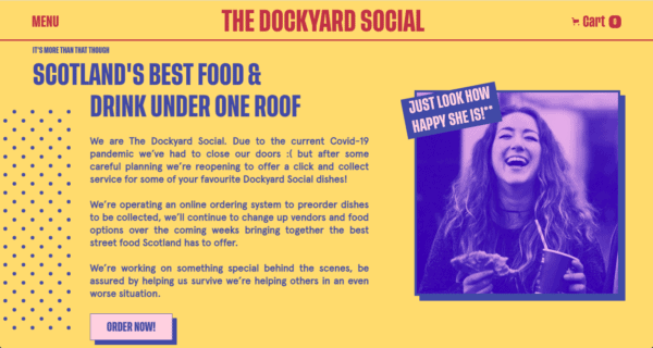 Dockyard Social color pairings make it a good looking website featured by an award-winning WANDR Studio, UX Design Firm in LA and SF