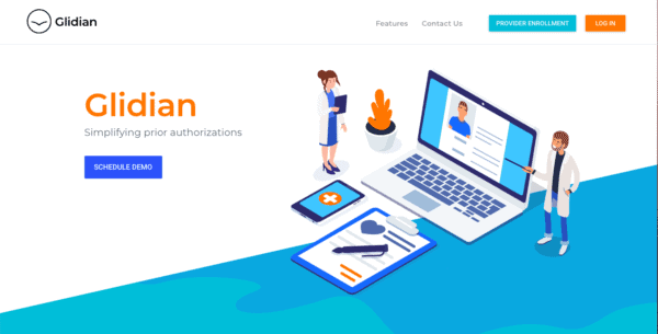 Glidian featured as a cool looking website by the top ranked Digital Design