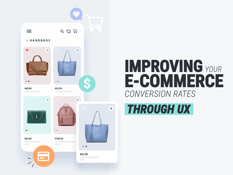 Improving Your E-Commerce Conversion Rates Through UX brought to you by WANDR an award-winning Product Strategy and UX Design Firm